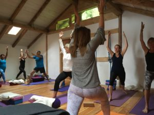 yoga retreat french alps