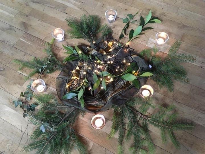 candlelit winter Solstice sorayayoga