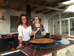 delicious paella sorayayoga retreat