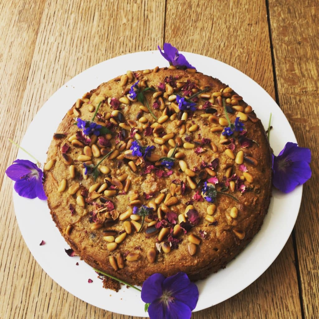 Italian carrot cake restorative yoga