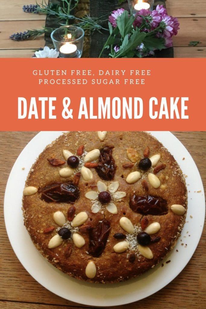 Soraya's gluten free date and Almond cake